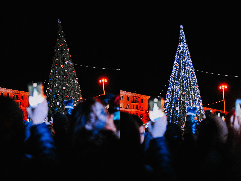ZZZ 6980 В Астрахани на площади Ленина зажгли новогоднюю елку: кадры торжества