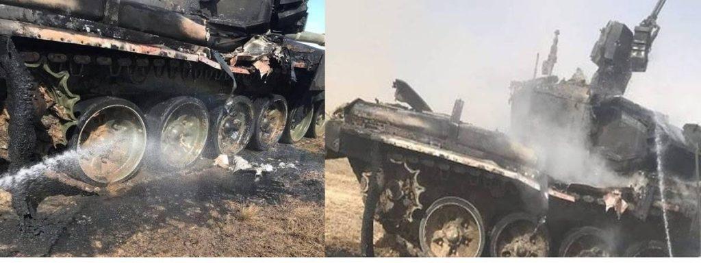 Под Астраханью во время учений ракета повредила танк