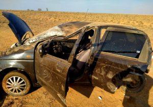 калмыикя Автоледи из Астрахани вылетела в кювет и попала в больницу Калмыкии