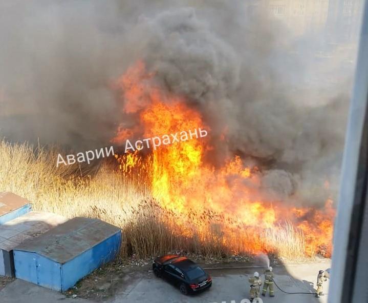 Куликова В Астрахани ландшафтные пожары добрались до жилого сектора