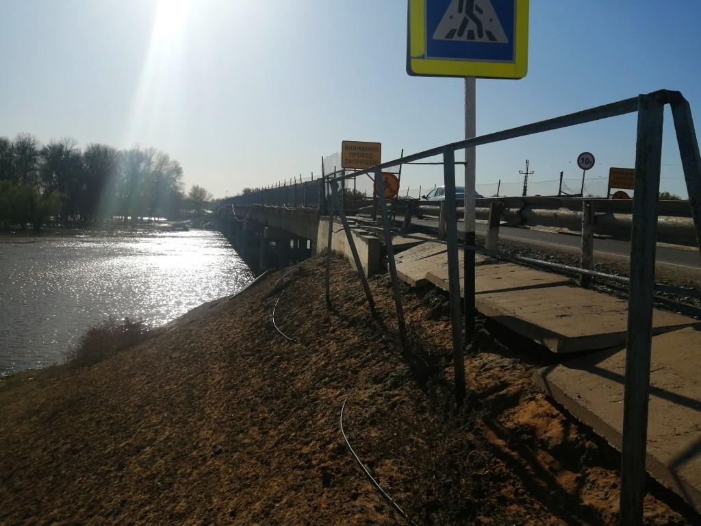 Мост через ерик Застенка в Астраханской области