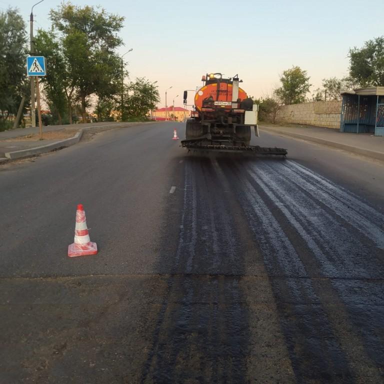 Ремонт дороги по ул. 5-я Керченская в Астрахани.