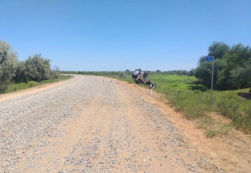 1 Под Астраханью угонщик автомобиля погиб в ДТП