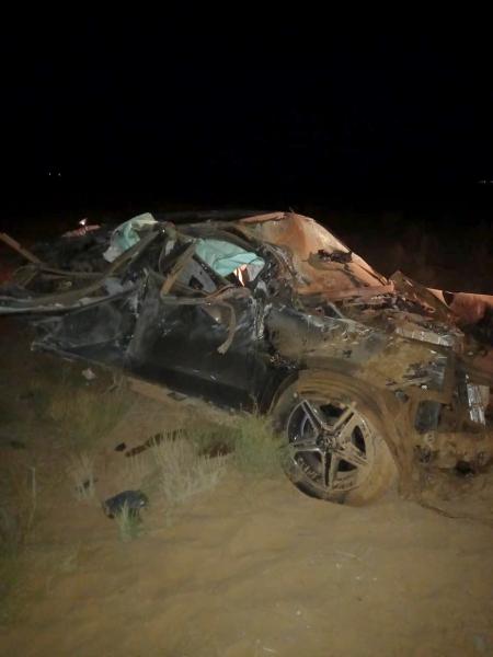 В Астраханской области перевернулся «Mercedes»