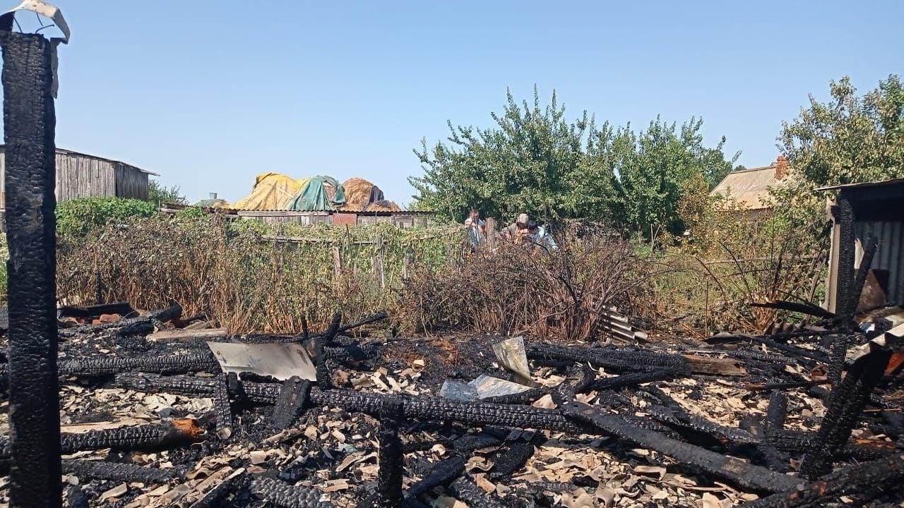 пожар в Астраханской области