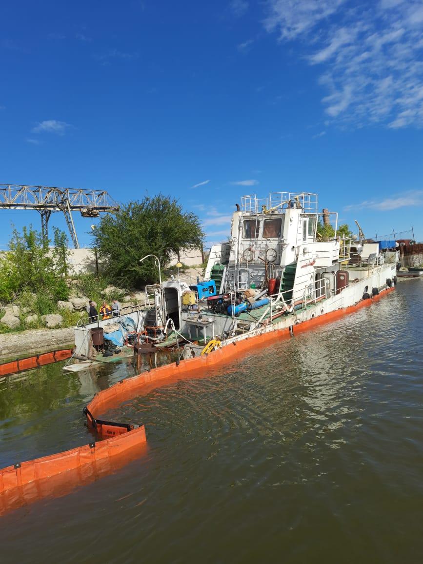 загрязнение реки Бахтемир