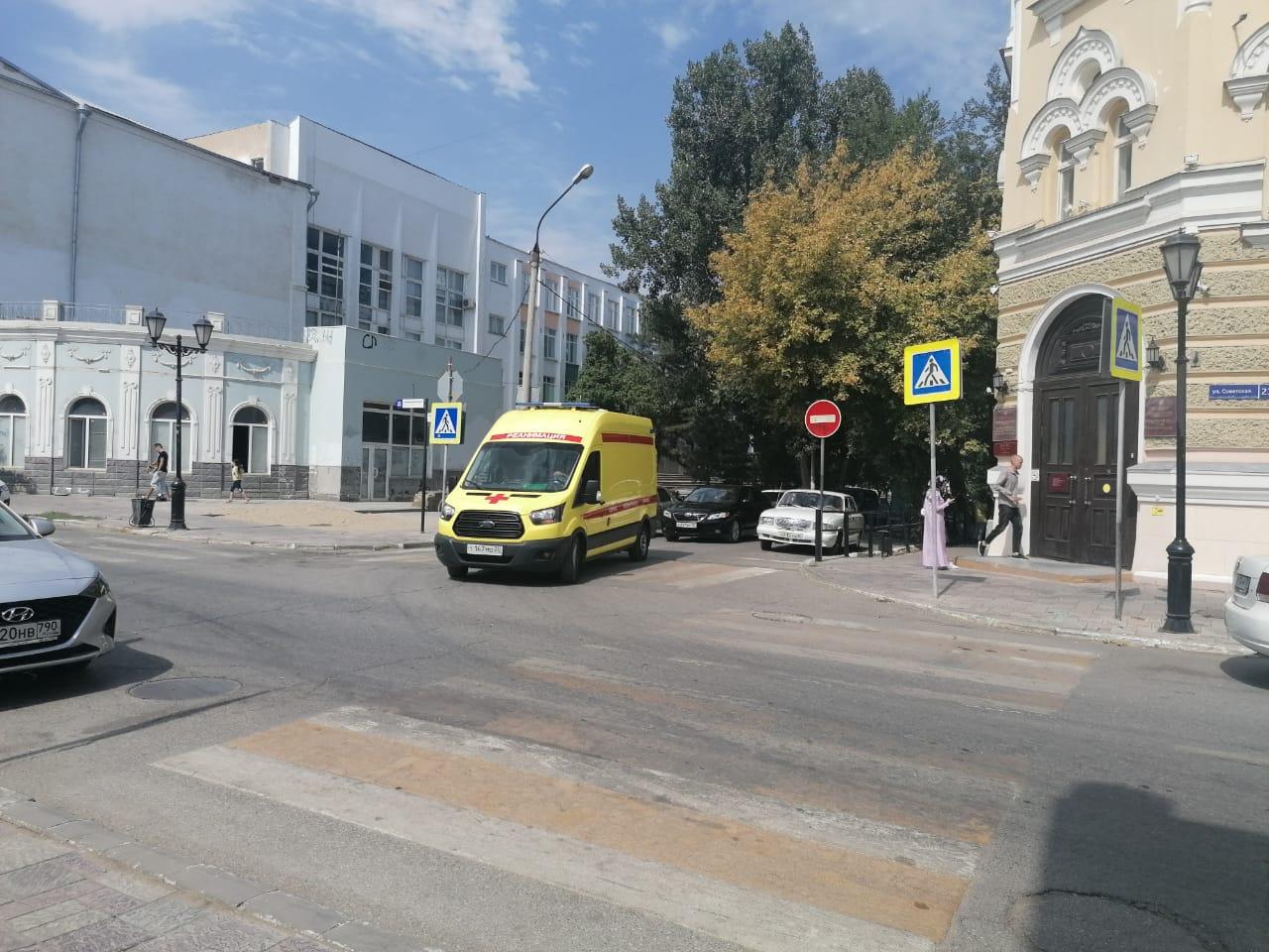 Эвакуация в лицее № 1 в Астрахани